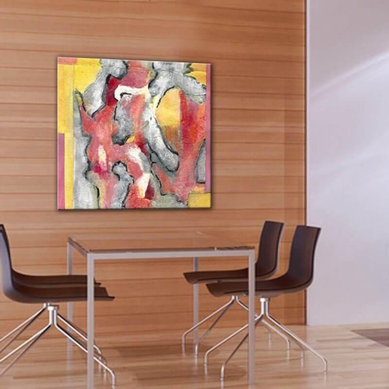 Quadre abstracte empremptes del vent