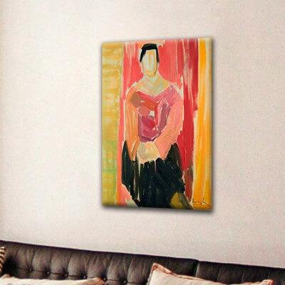 cuadros modernos figurativo  mujer de cara