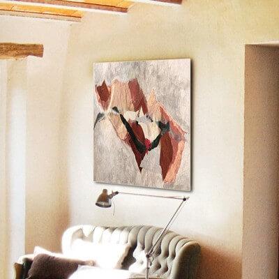 cuadros modernos abstractos para decorar sala pequeña - tierra lejana II