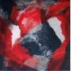 Quadre abstracte díptic impuls amorós