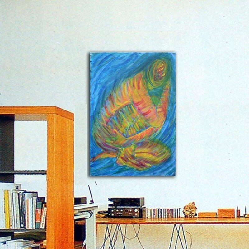 quadre modern figuratiu-recollir-se III