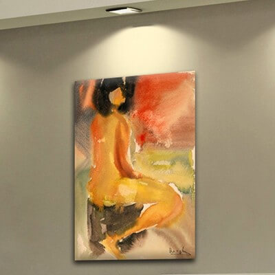 Figurative painting looking