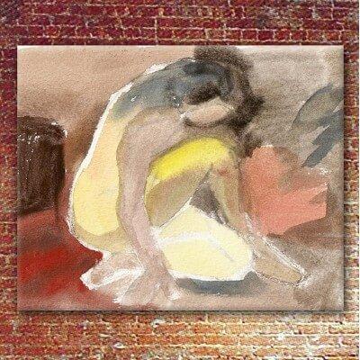 Quadre figuratiu dona aixecant-se