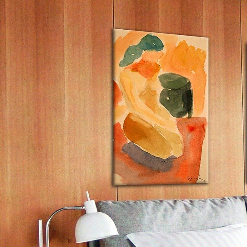 cuadros modernos figurativos para el salón-al descansar