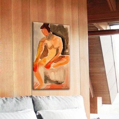 cuadros modernos figurativos para el salón-al despertar
