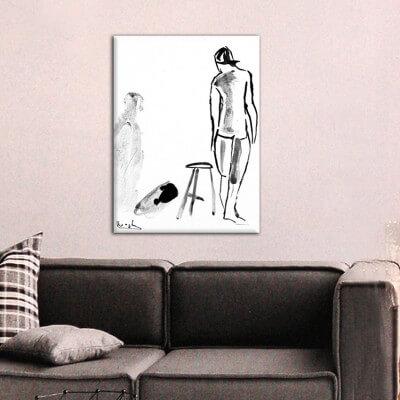 cuadros modernos figurativos para el salón-sombra y figura