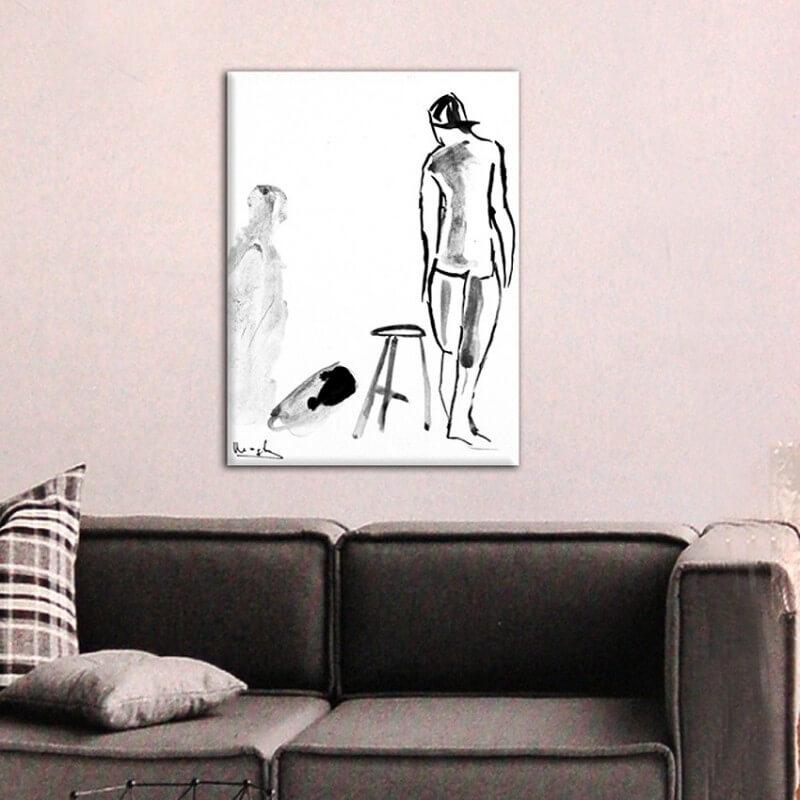 Tableau figuratif ombre et figure