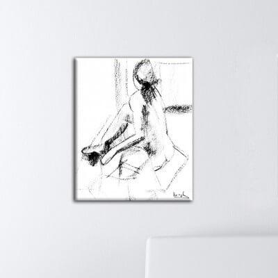 Tableau figuratif femme en rotation
