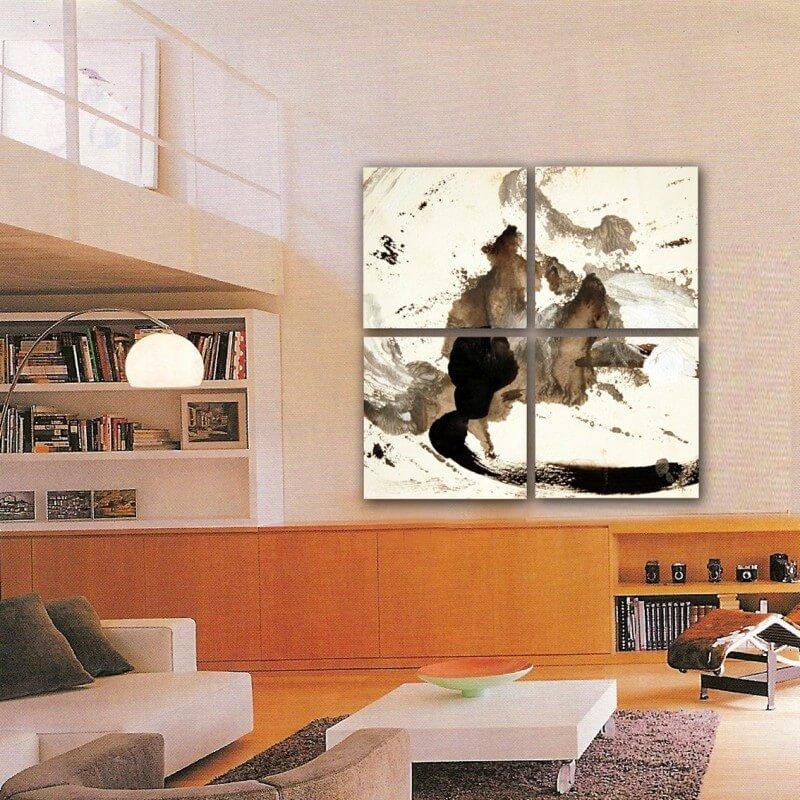 cuadros modernos abstracto cuadriptico pensamiento
