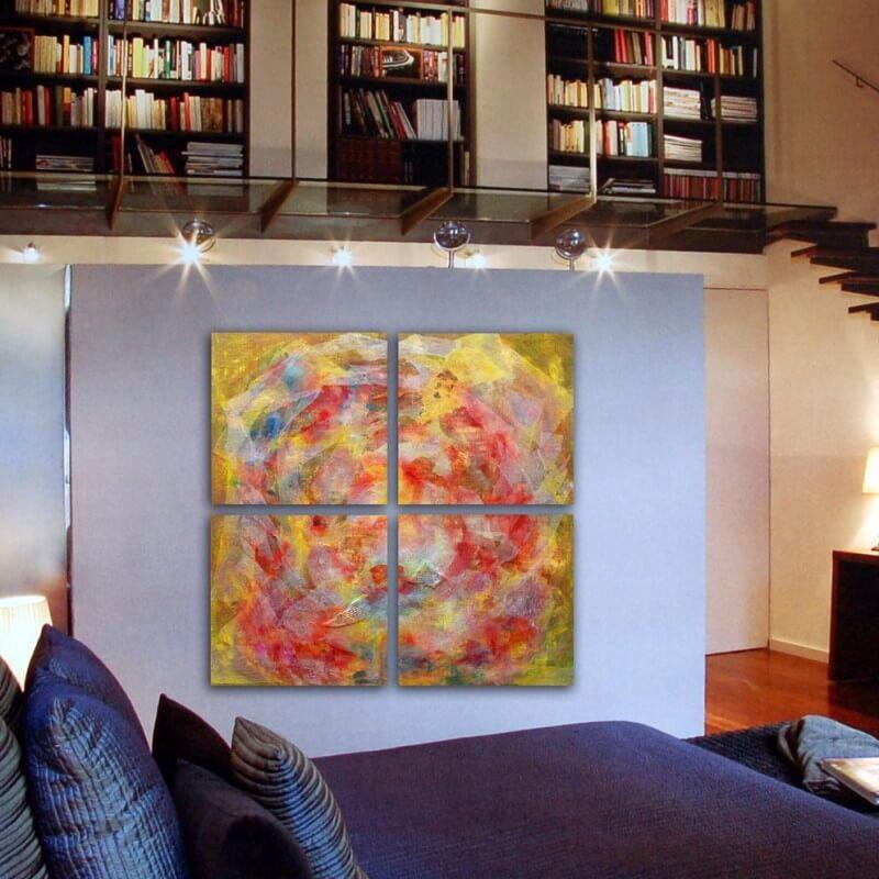 cuadros modernos abstracto cuadriptico atmósfera