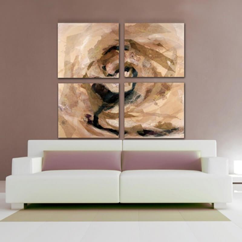 cuadros modernos abstracto cuadríptico sin tí