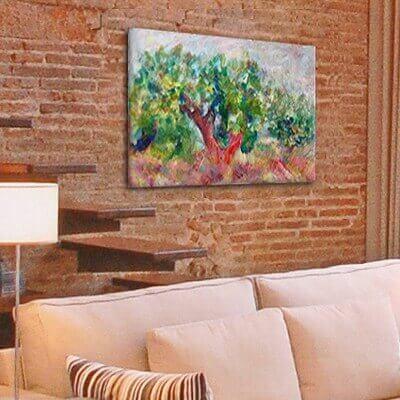 Quadre paisatge oliveres