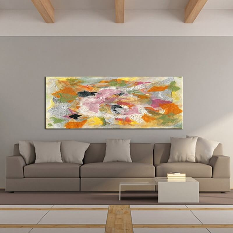 cuadros modernos abstractos para decorar espacios grandes -lírica de fragmentos