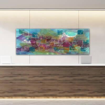 quadre abstracte univers en construcció