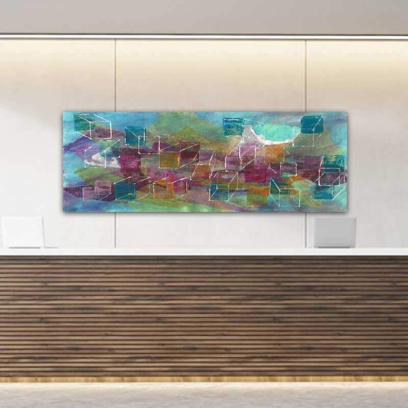 Tableaux modernes abstraits-univers en construction