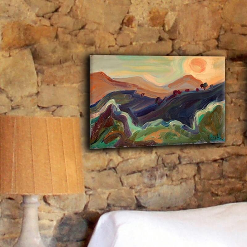 Tableau paisajes coucher du soleil