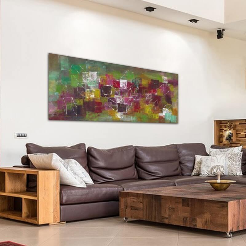 cuadros modernos abstractos para decorar grandes espacios -universo y geometría
