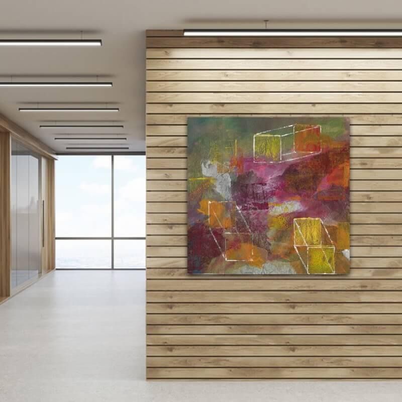 cuadros modernos abstractos para el hall -identidades contrapuestas