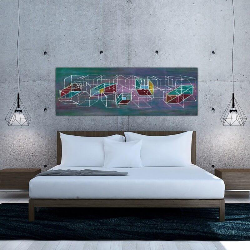 quadre abstracte estructura i dimensió