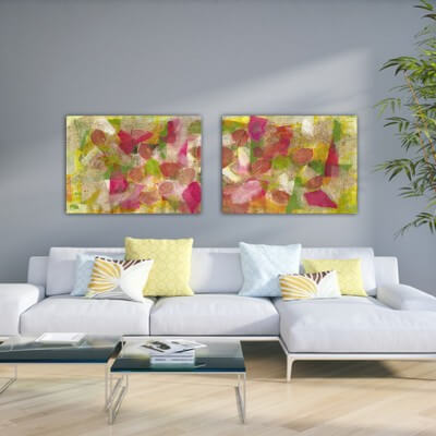 Abstract painting nature